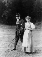 Sigmund Freud and his daughter Anna.
